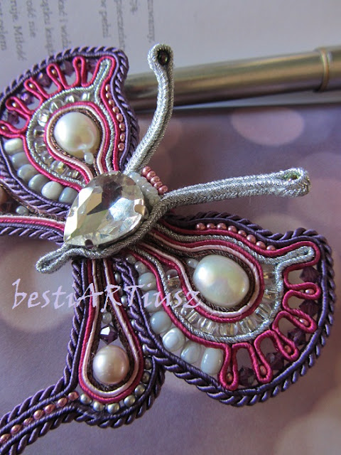 soutache jewelry brooch handmade