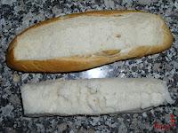 Miga del pan quitado