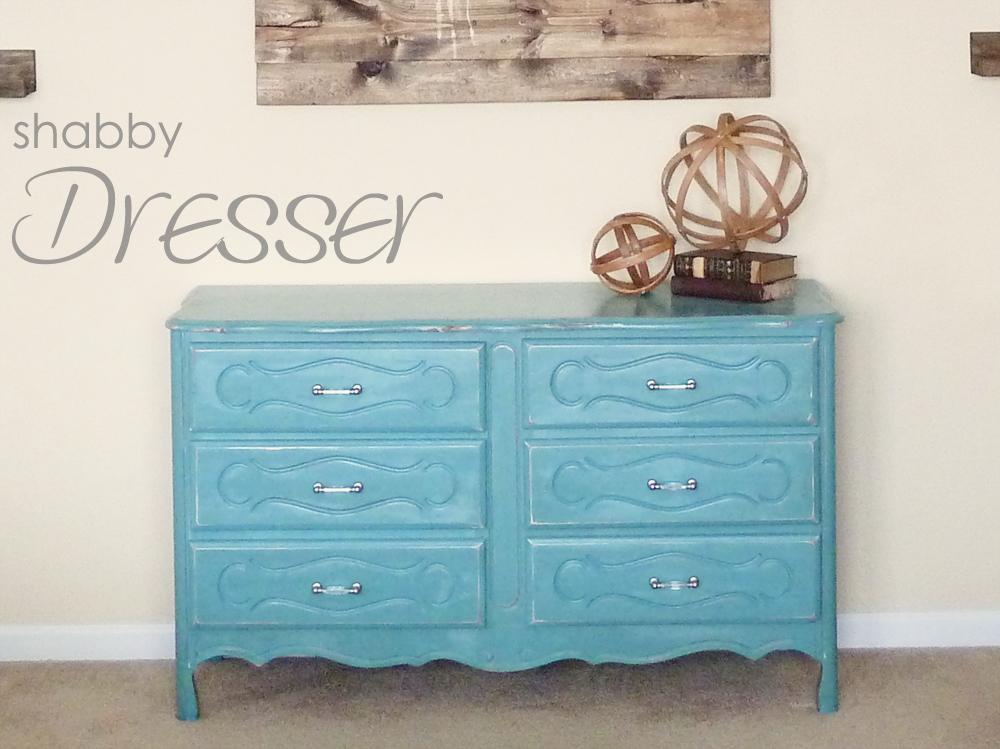 Turquoise Shabby Dresser | #diy #homedecor #furniture
