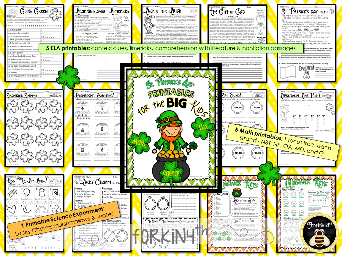 Forkin4th Pin To Win St Patrick S Day Printables For Big Kids