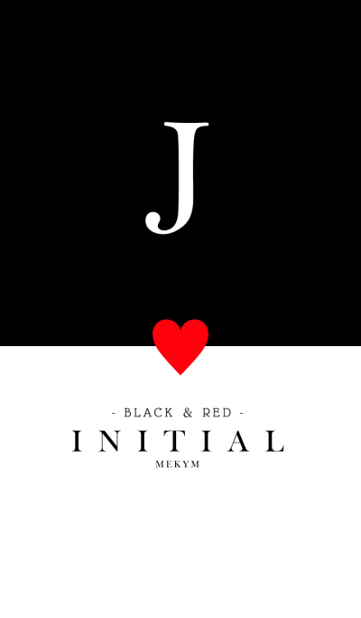 INITIAL J -BLACK&RED-