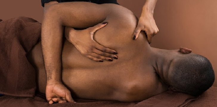 Black man massage
