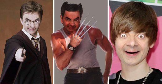 Personas están haciendo gracioso Photoshop de Mr. Bean
