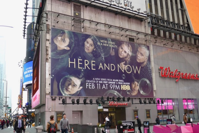 Here and Now billboard Times Square NYC
