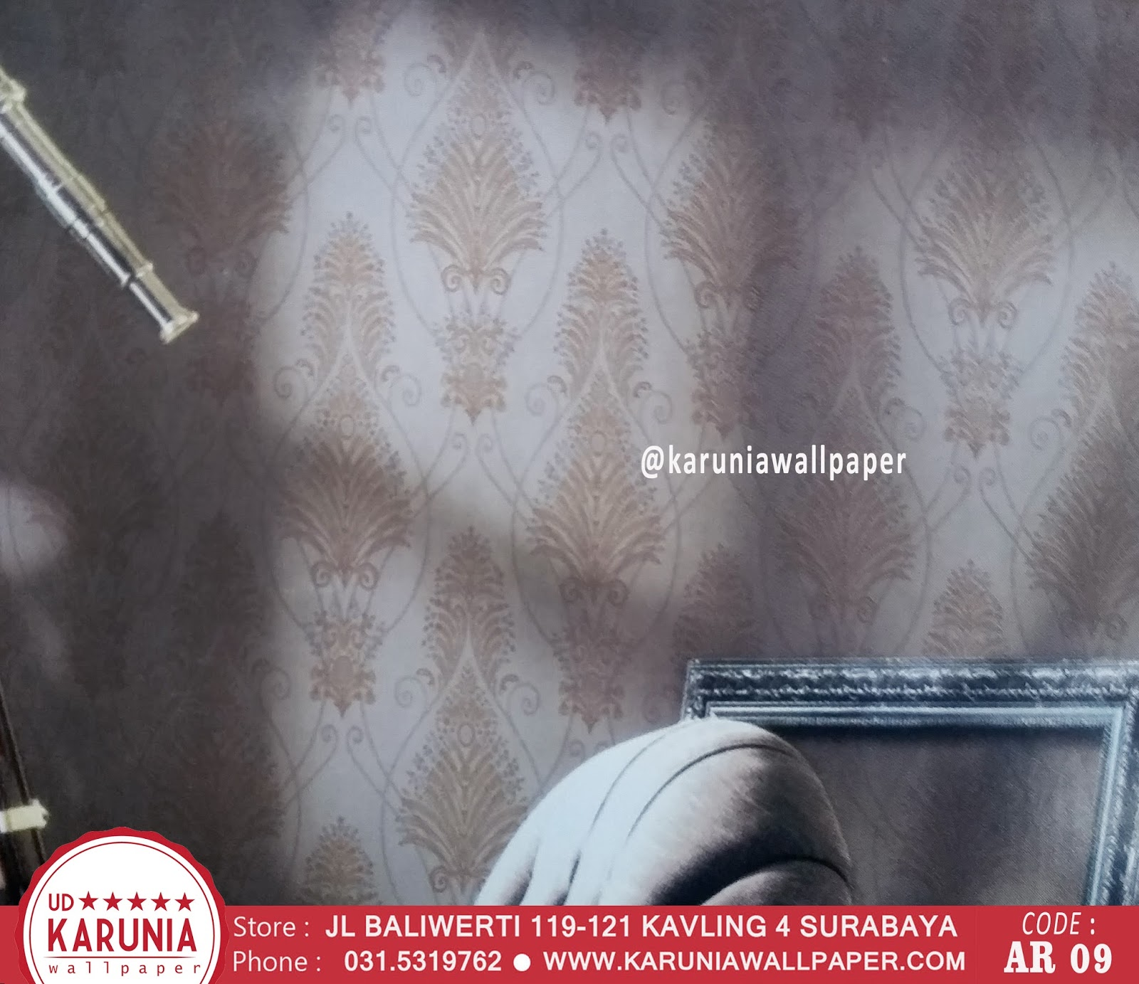 wallpaper dinding silver