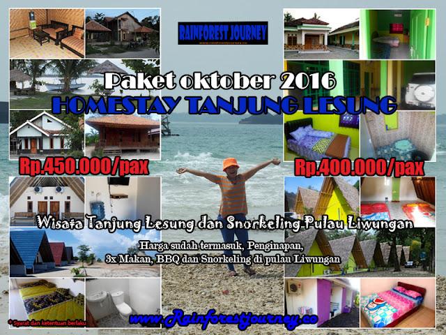 Paket Promo Homestay Tanjung Lesung Oktober 2016