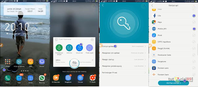 Cara mudah mengunci aplikasi android di HP Oppo