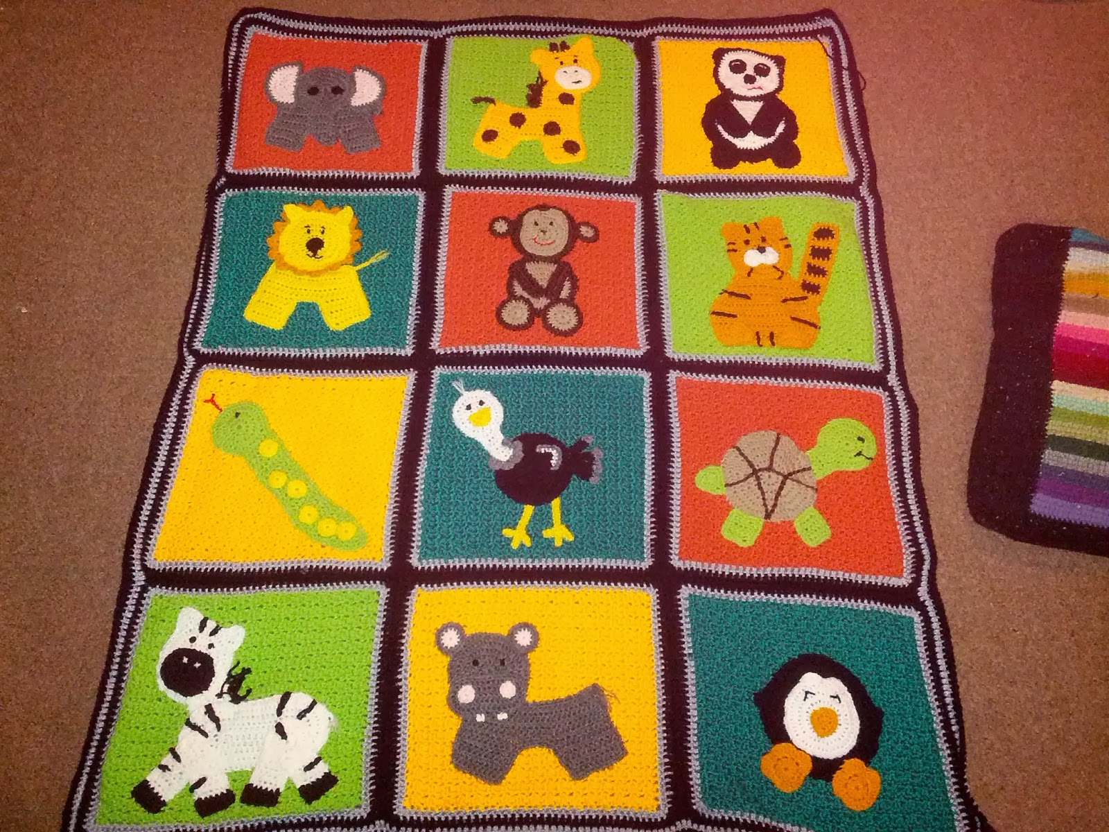 Blooming Lovely: Finished Item - Crochet Zoo Blanket