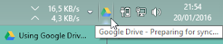 icon google drive akan tampil pada bottom bar