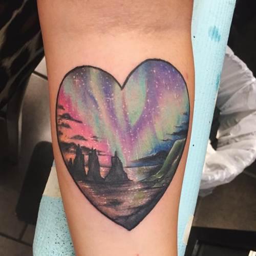 26 enchanting aurora borealis tattoos noda luka