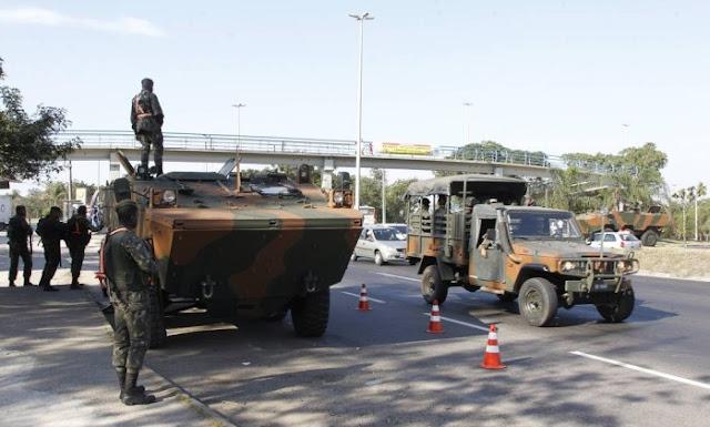 RJ: registros de crimes caem com Forças Armadas na ruas