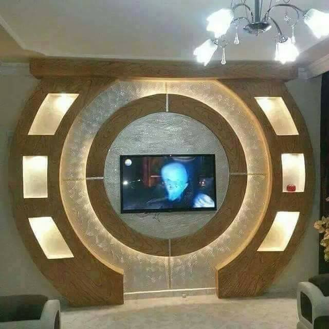 Handmade Gypsum Board TV Wall Units - Decor Units