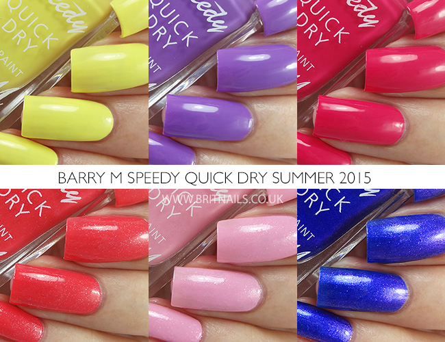 Barry M Speedy Quick Dry Summer 2015