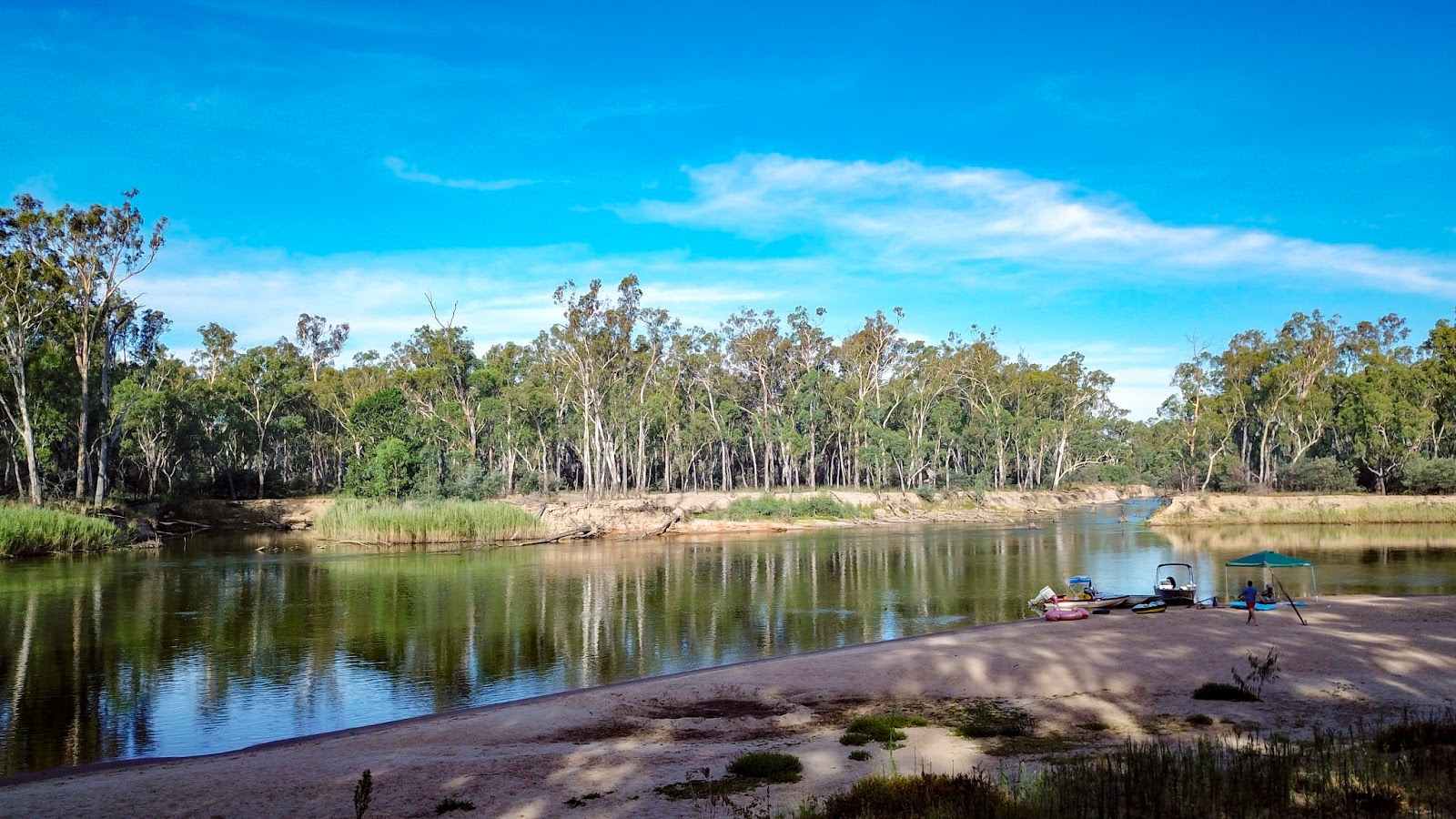 camping trip on the murray river