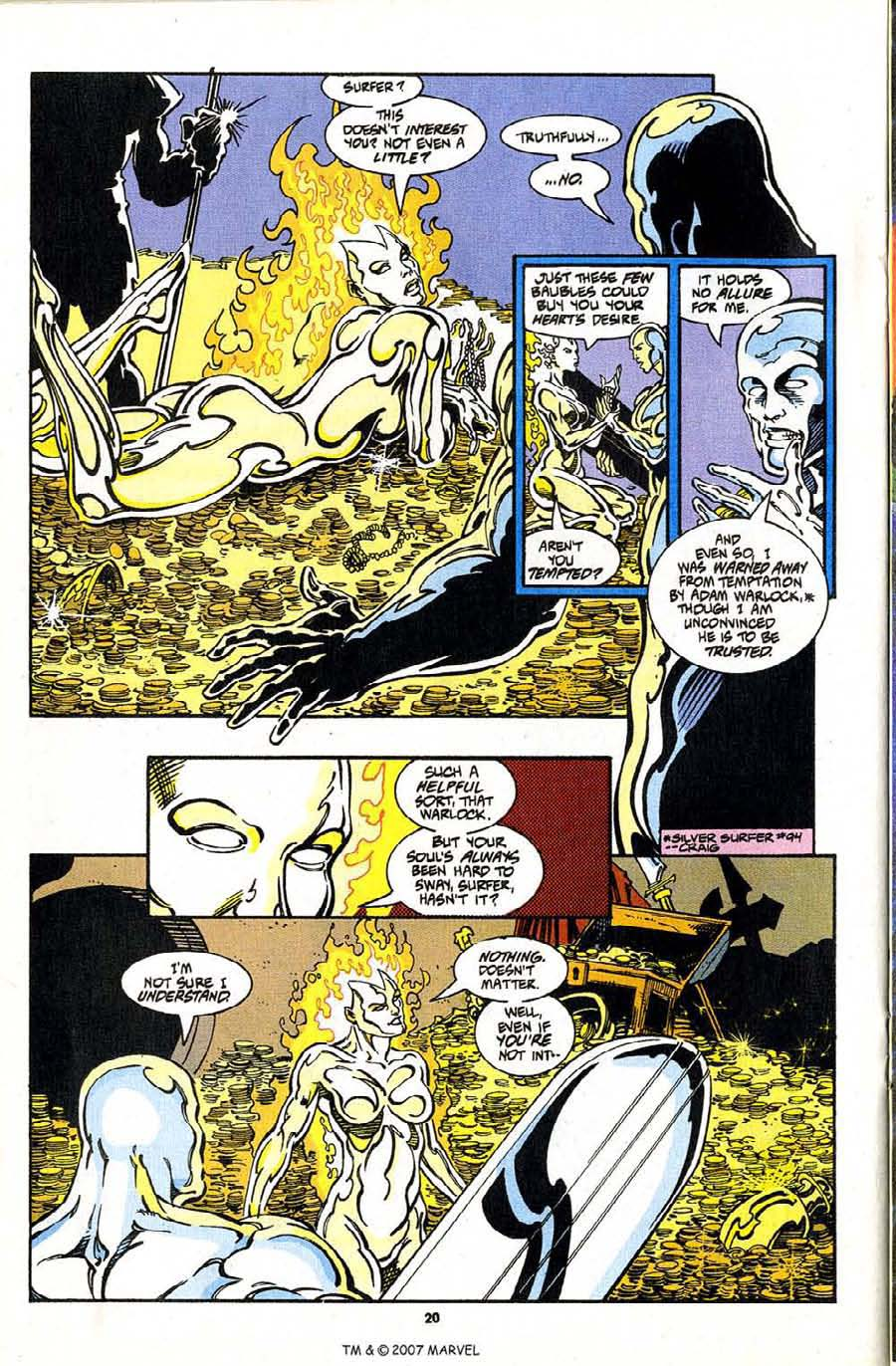 Read online Silver Surfer (1987) comic -  Issue #97 - 22