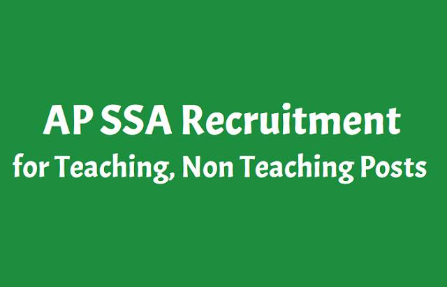 ap ssa kurnool recruitment 2018 for teaching,non teaching posts,ssa, kurnool dist 141 computer teacher,crp & other posts recruitment