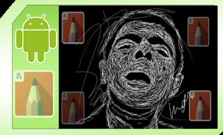 edit foto scribble art sketchbook