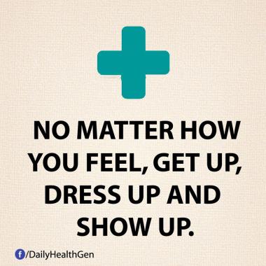 Tak Peduli Bagaimana Perasaan Kamu, Bangkit, Berpakaian, dan Perlihatkan (Identitas)