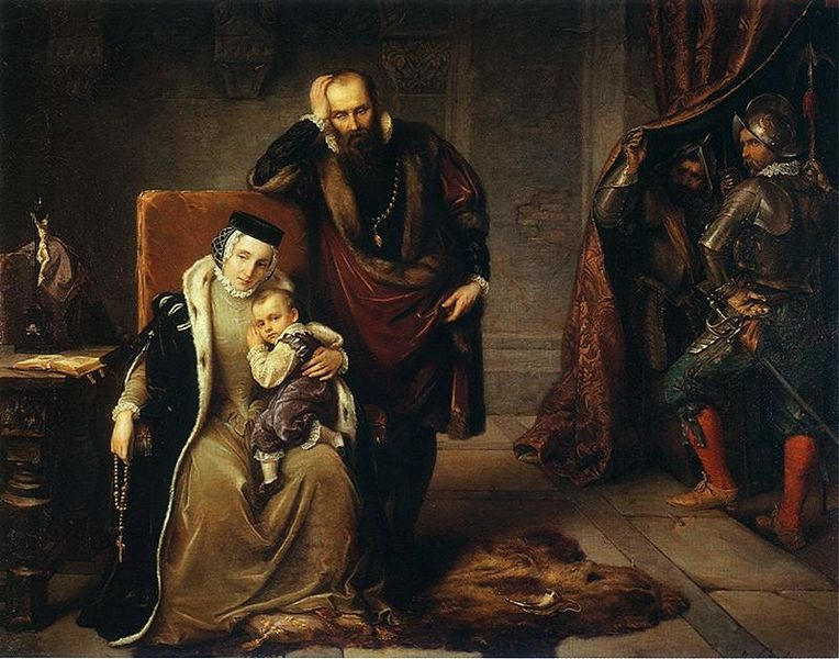 John III Vasa, Queen Catherine Jagiellon and young Sigismund