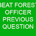 BEAT FOREST OFFICER PREVIOUS QUESTIONS AND ANSWERS 07-04-2018