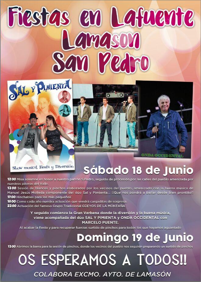 Fiestas de San Pedro 2016 en Lafuente, Lamason