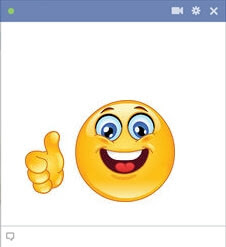 Thumbs up emoticon for Facebook