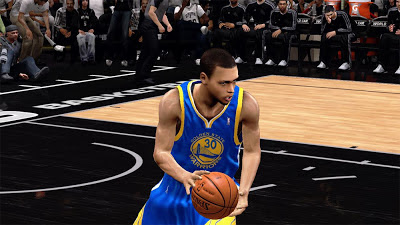 NBA 2K13 Stephen Curry Warriors versus Spurs