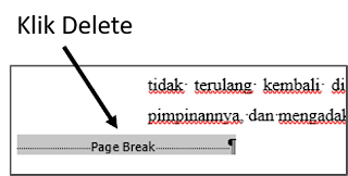 Menghapus Page Break Secara Manual 2