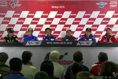 Di Preskon GP Jepang, Marquez Diapit oleh Team MotoGP 2017