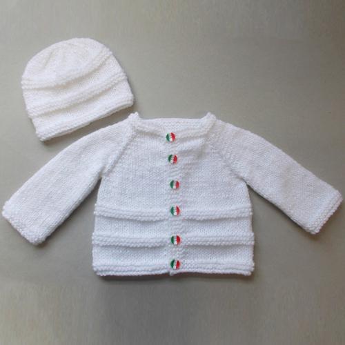Roma Baby Cardigan Jacket & Hat - Free Pattern