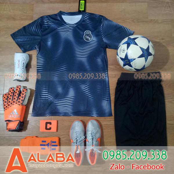 Áo Đá Bóng CLB Real 2019 Màu Đen