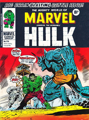 Mighty World of Marvel #178, Hulk vs Abomination and Rhino