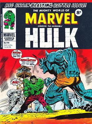 Mighty World of Marvel #178, Hulk vs Abomination and Rhino