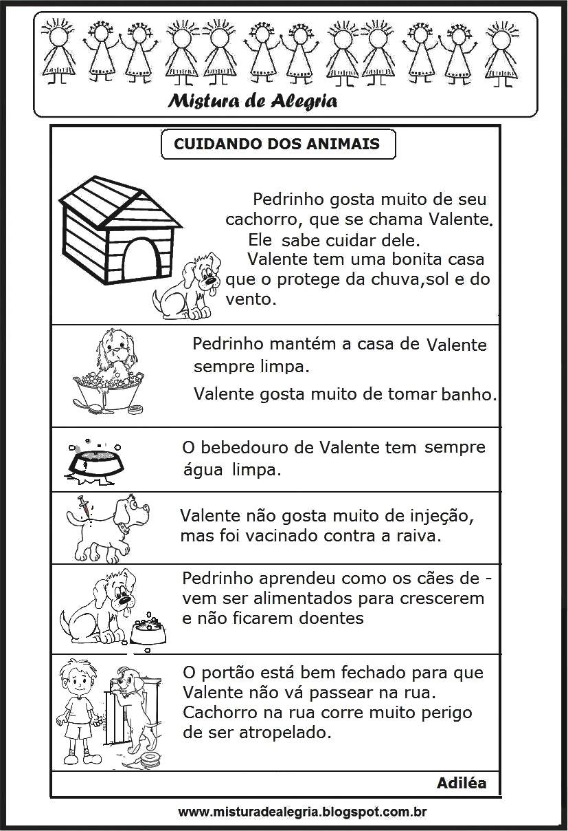 Top DIA NACIONAL DOS ANIMAIS, PRODUÇÃO DE TEXTO, CUIDANDO DOS ANIMAIS  II87