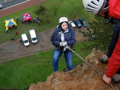 Avon Gorge abseil for Cats Protection