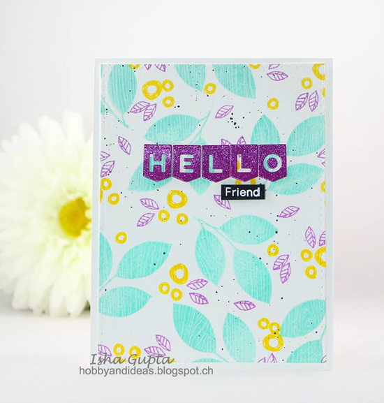 Pretty Posies and Flashy Florals stamp set and Laina Lamb Design Stitched Banner Alphabet Die-namics  - Isha Gupta #mftstamps