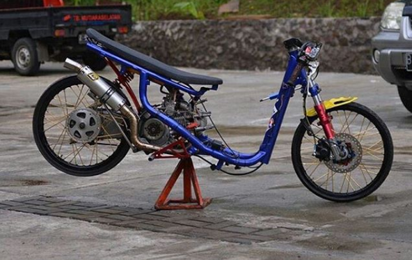 modifikasi drag bike mio soul