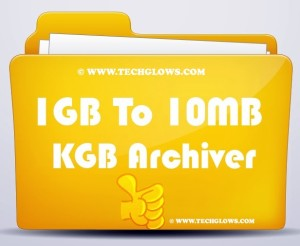 Compress 1GB to 10MB Using KGB Achiver