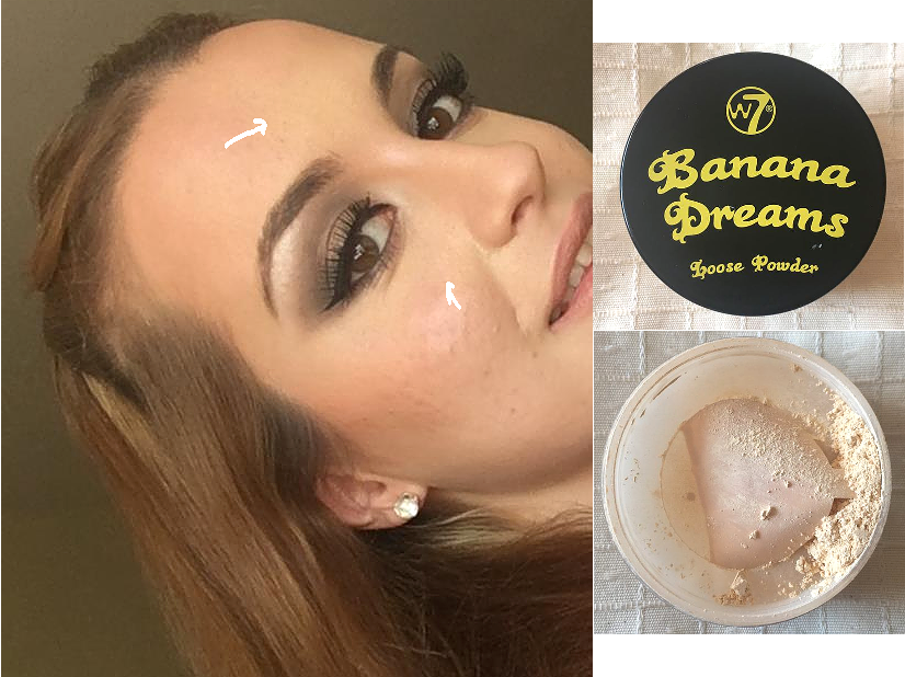 W7 Banana Dreams Loose Powder - REVIEW baking banana powder