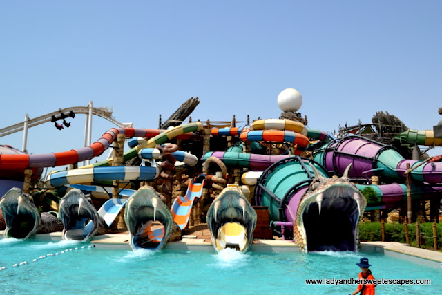 creepy slides at Slither Alley in Yas Waterworld