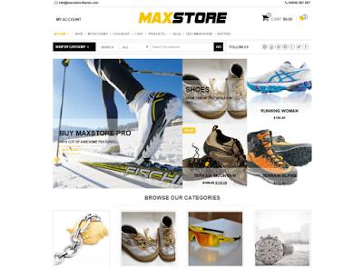 MaxStore Wordpress Ecommerce Theme Free Download