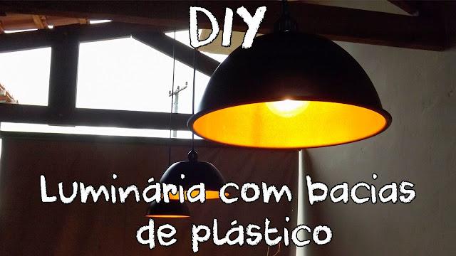 Bacia plástica luminária