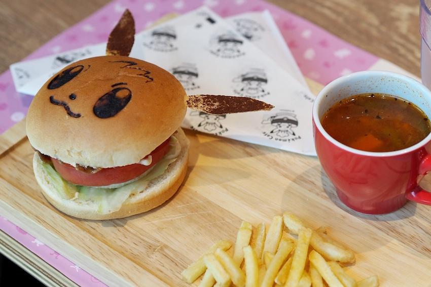 Pokemon Cafe Pikachu Burger