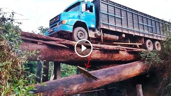 Ponte madeira caindo