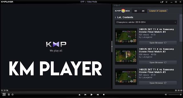 KM Player: tampilan hampir mirip POT Player bagus powerfull