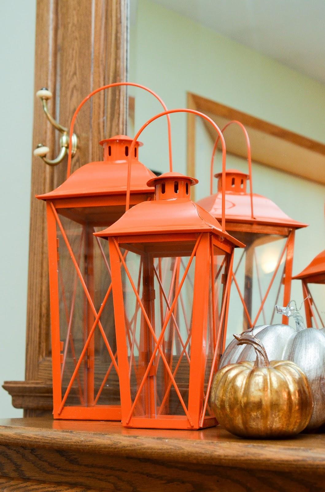 Orange Lanterns from Oriental Trading~anartfulmom.com