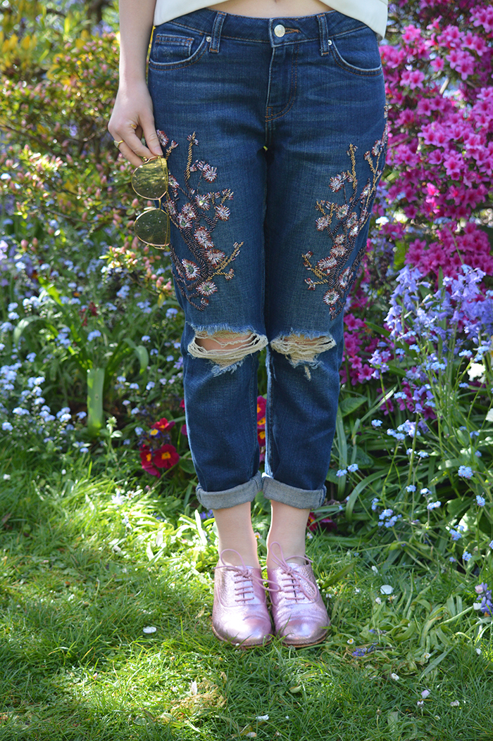 embellished topshop jeans fashion bloggers