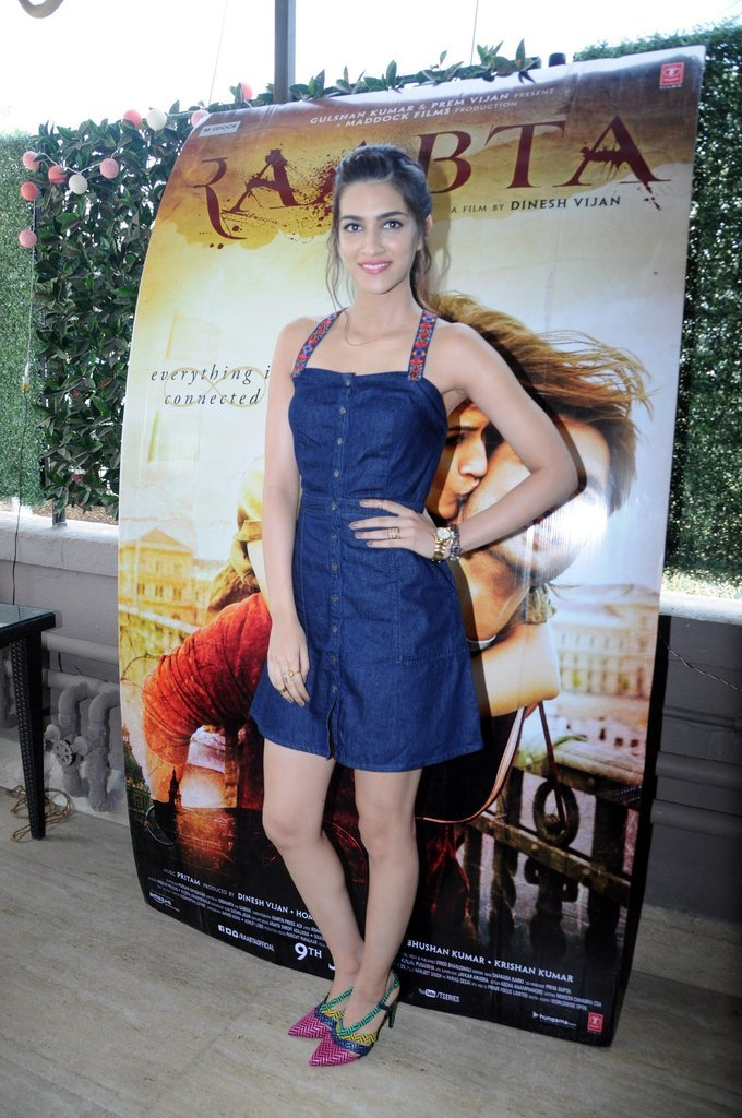 Beautiful Mumbai Girl Kriti Sanon Photo Shoot In Mini Blue Skirt