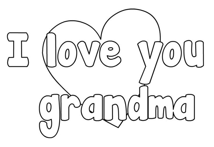 Happy Mothers Day Grandma Coloring Pages Coloring Pages