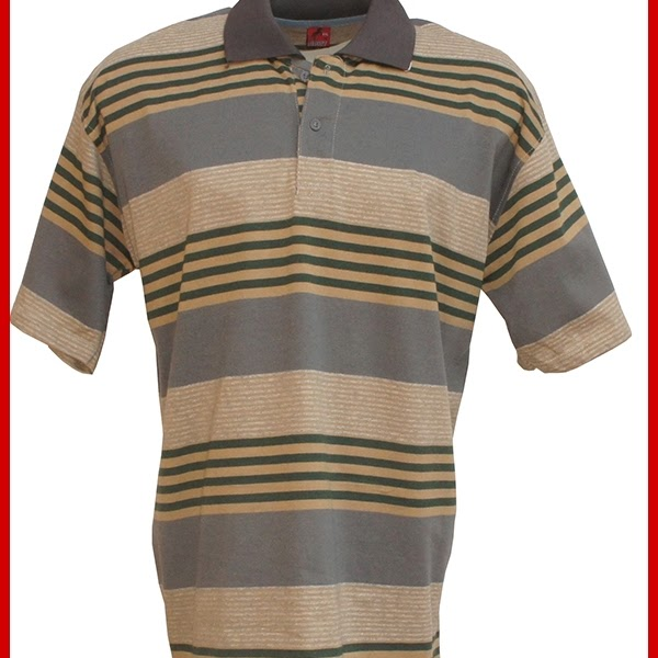 ADR045 Kaos Brown Light Polo Pria Import BMGShop